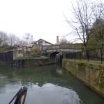 Leaving Bath locks and onto the River Avon