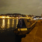 Celtic Maid by night in Bristol Floating Harbour