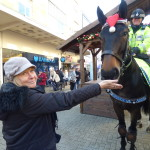 Chris and the Police horses